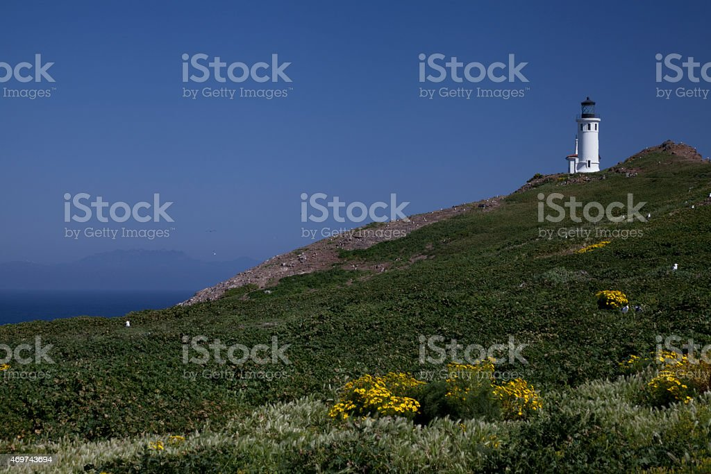 Anacapa Island, CA , Lighthouse stock photo