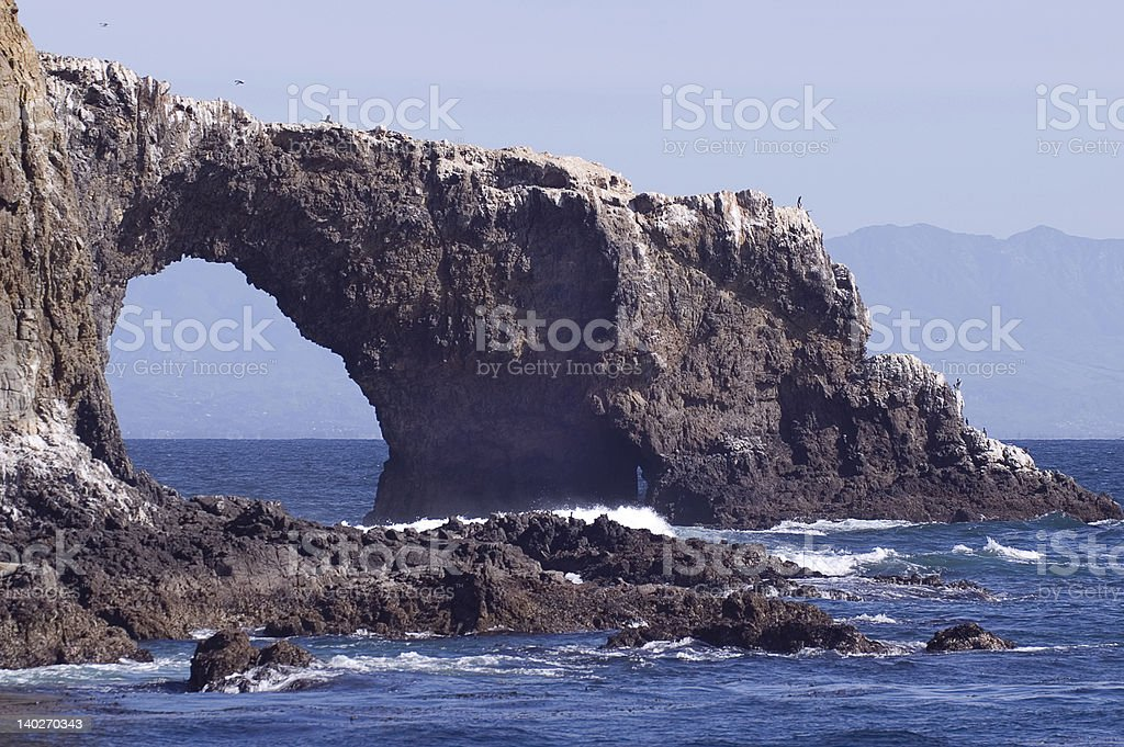 Anacapa Island in Southern California stock photo