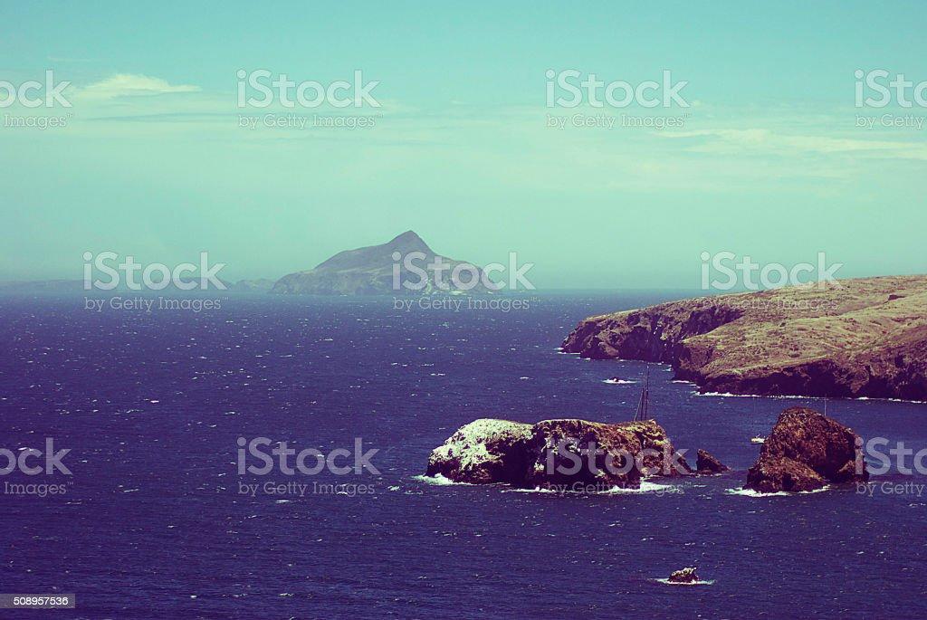 Anacapa Island Off the Coast of Ventura County, California stock photo