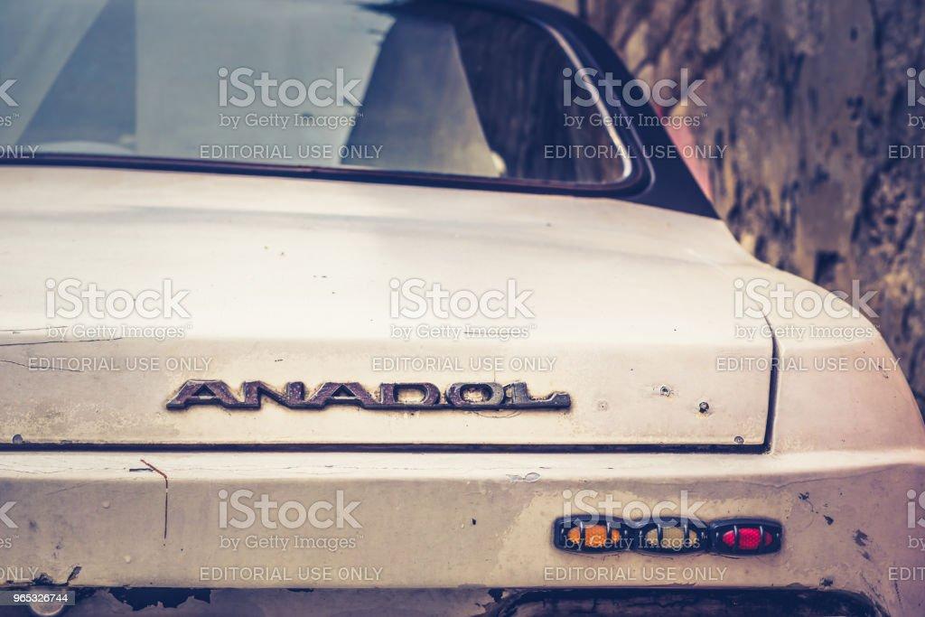 Anadol car 1973 was Turkey's first domestic mass production passenger vehicle zbiór zdjęć royalty-free