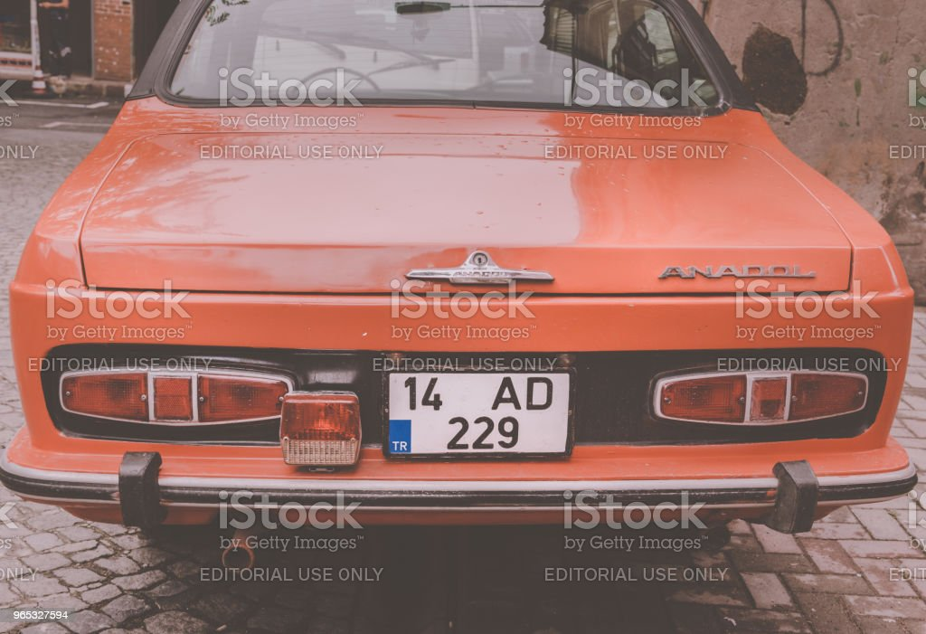 Anadol car 1973 was Turkey's first domestic mass production passenger vehicle zbiór zdjęć royalty-free