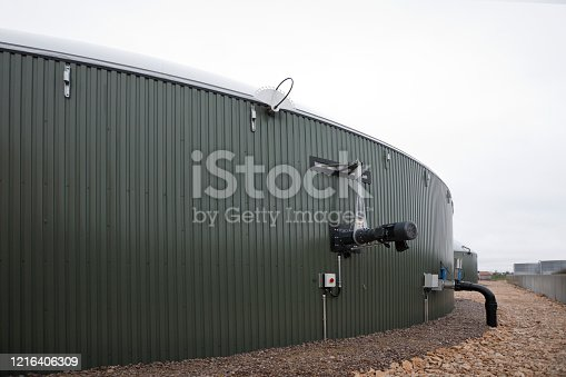 Anaerobic digester for the production of biogas for electricity generation, France