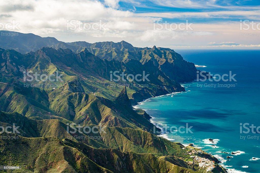 Anaga mountains and Atlatic ocean coast, Tenerife – Foto