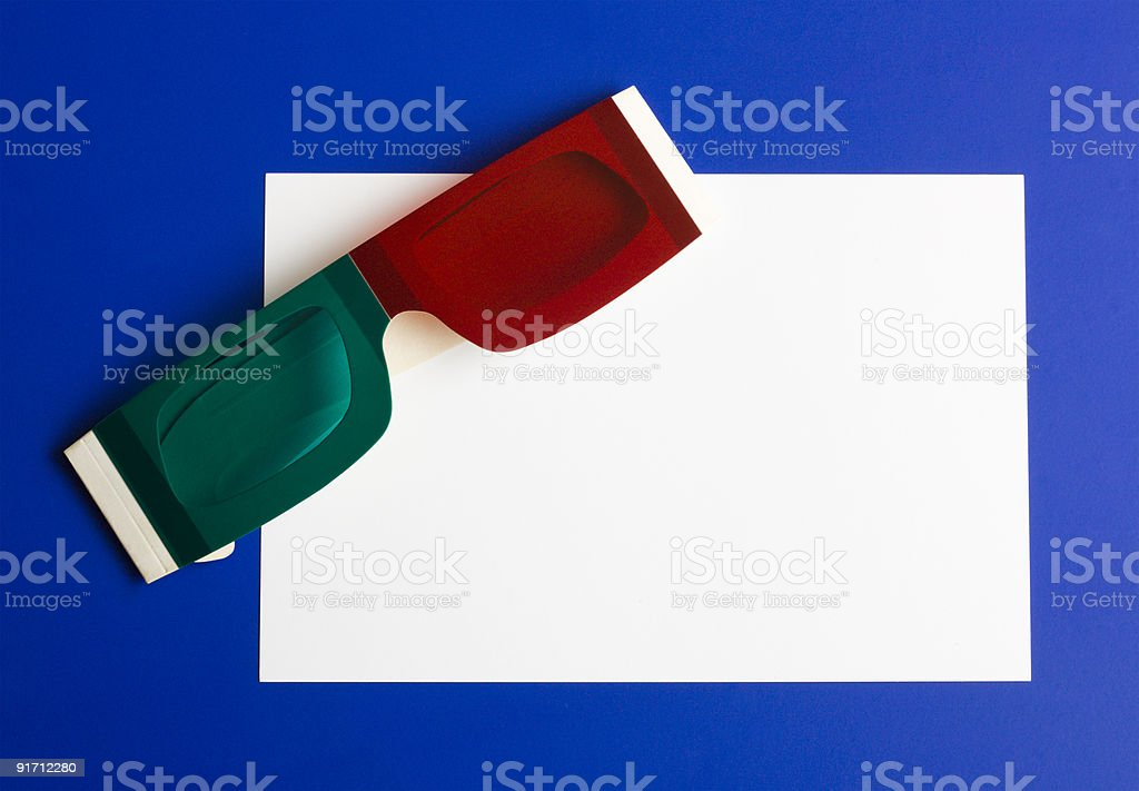 Anaglyph 3-D Glasses royalty-free stock photo