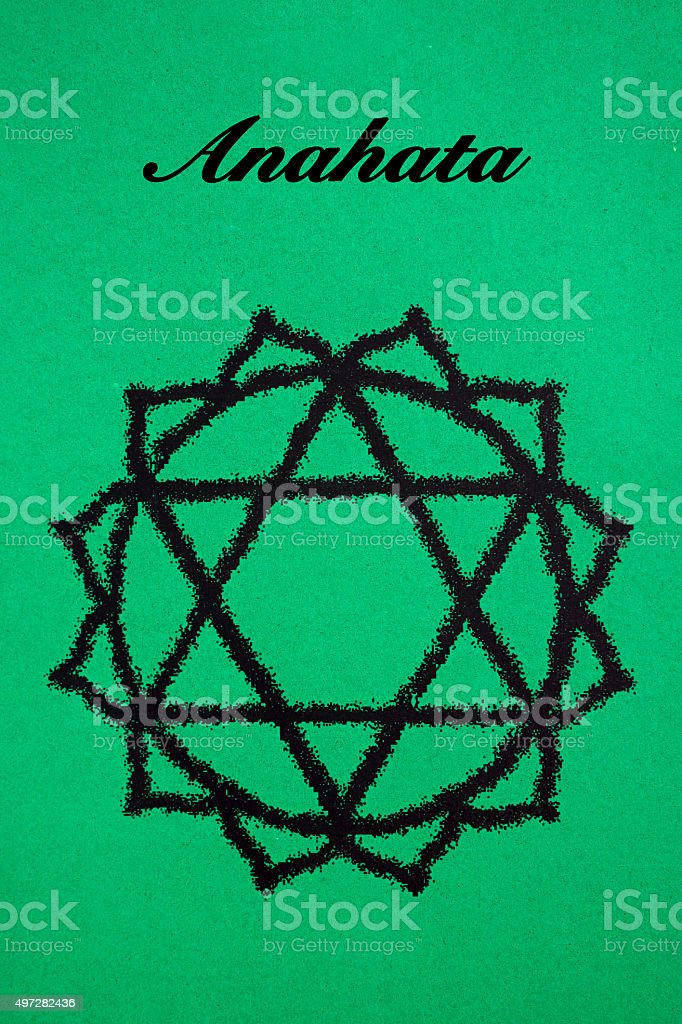 Anahata chakra.Isolated stock photo