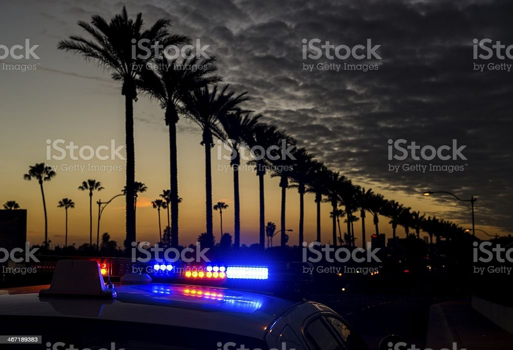 Anaheim at dusk stock photo