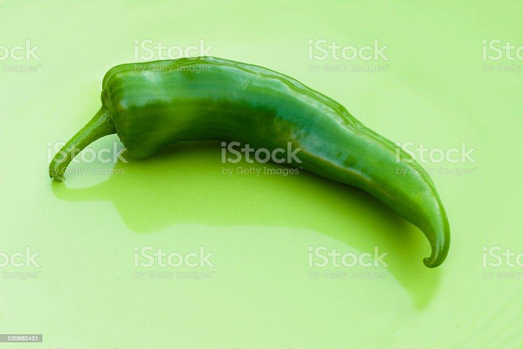 anaheim chili on green stock photo
