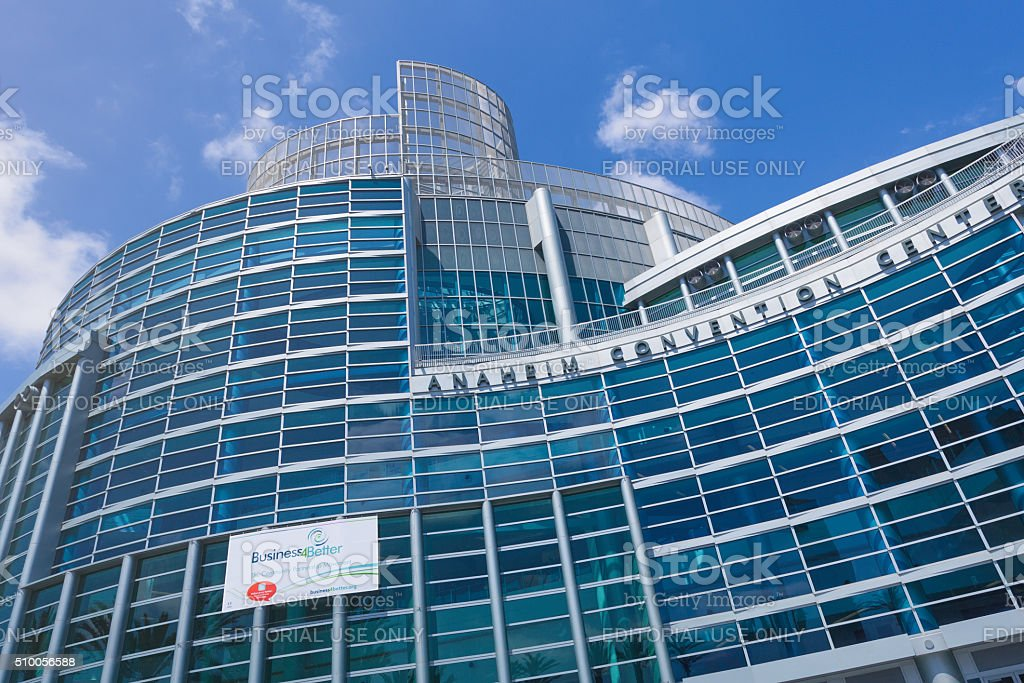 Anaheim Convention Center facade stock photo