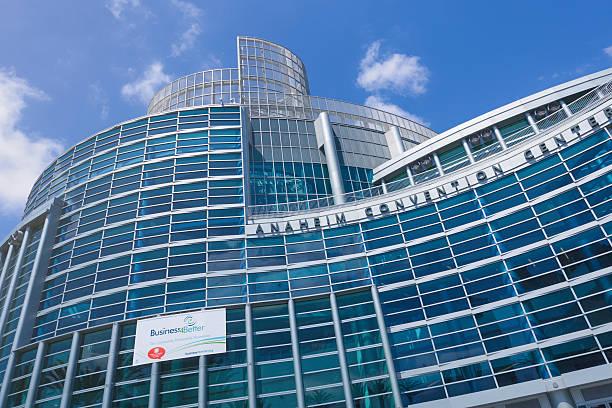 Anaheim Convention Center facade stock photo