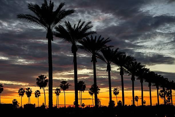 Anaheim Sunset stock photo