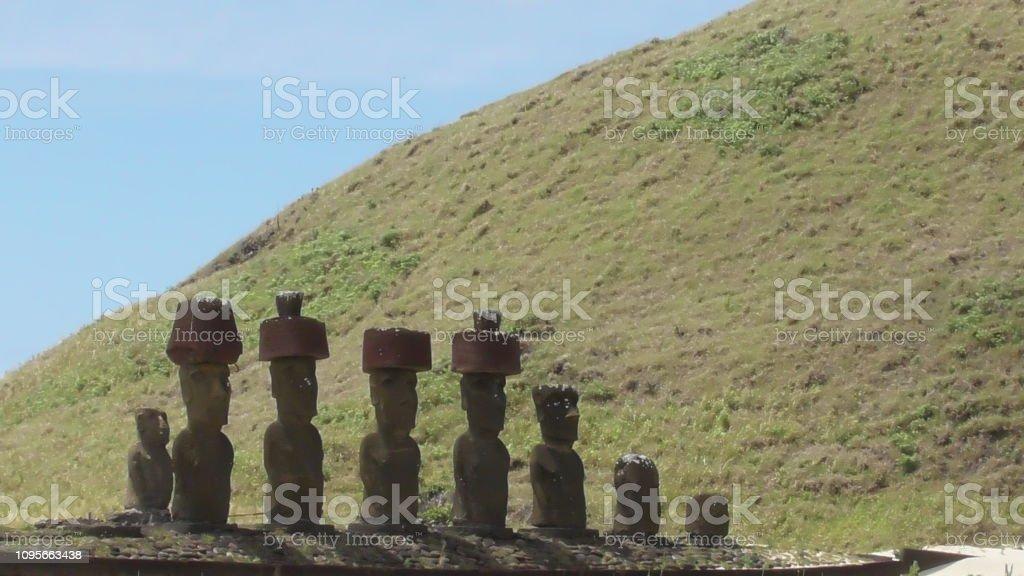 Anakena, Easter Island stock photo