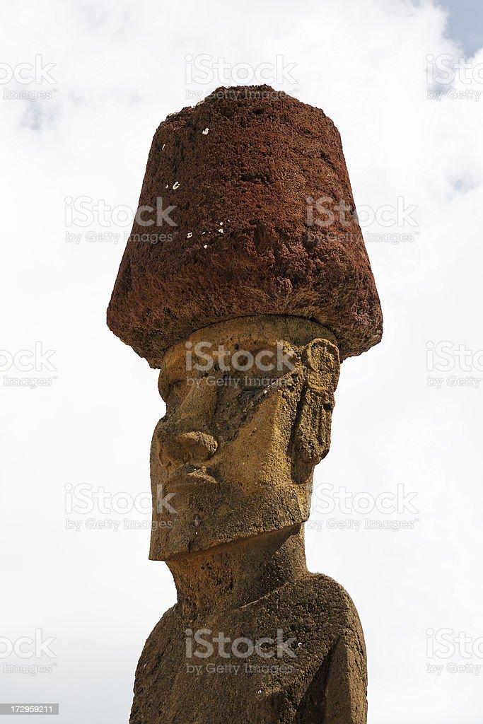 Anakena moai statue royalty-free stock photo