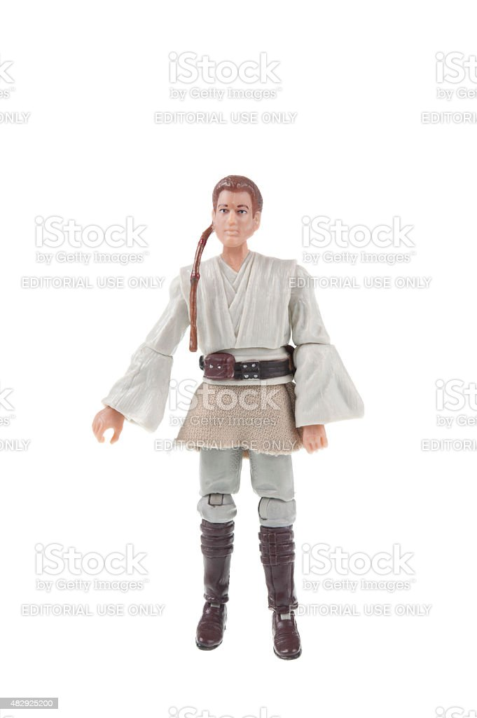 Anakin Skywalker Action Figure stock photo