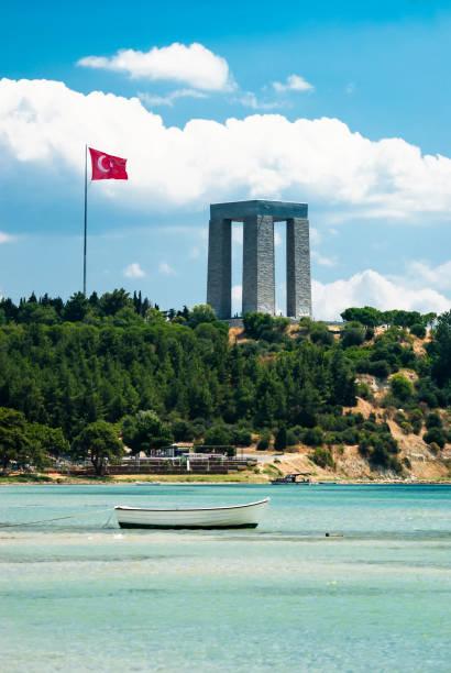 Çanakkale Martyrs Monument, Turkey stock photo