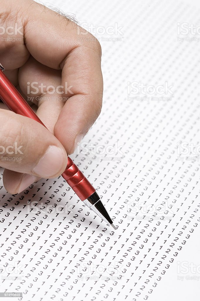 Analaysing numbers royalty-free stock photo