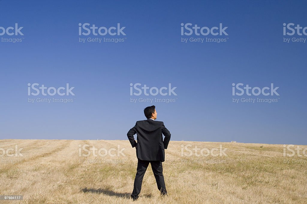 Analising the field royalty-free stock photo