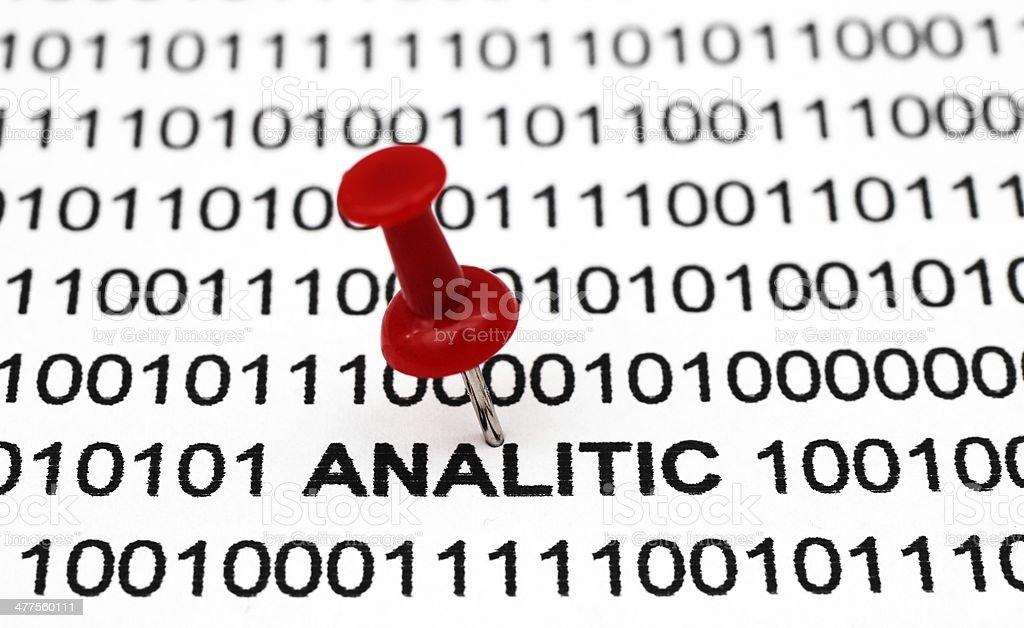 Analitic texto en datos binarios - foto de stock