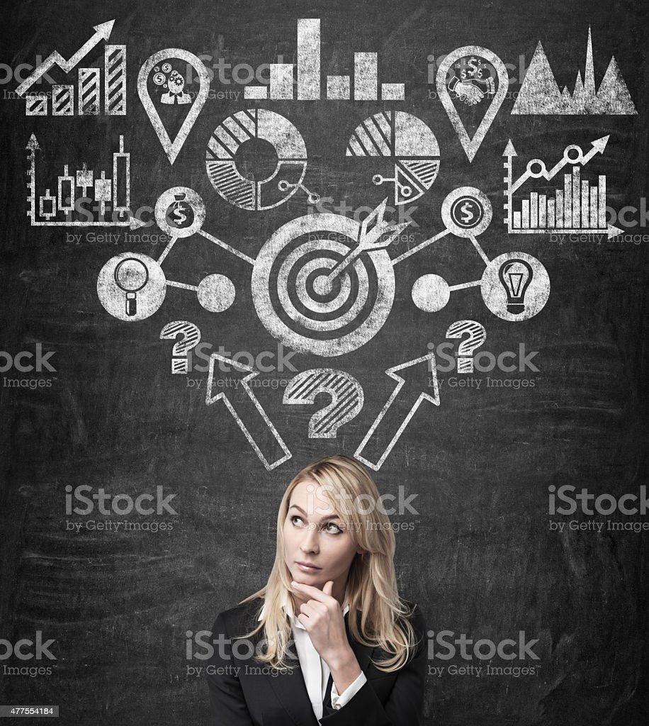 analitics esquema - foto de stock