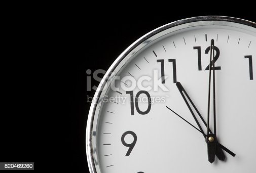 analog clock with the time 11 oclock stock photo  u0026 more
