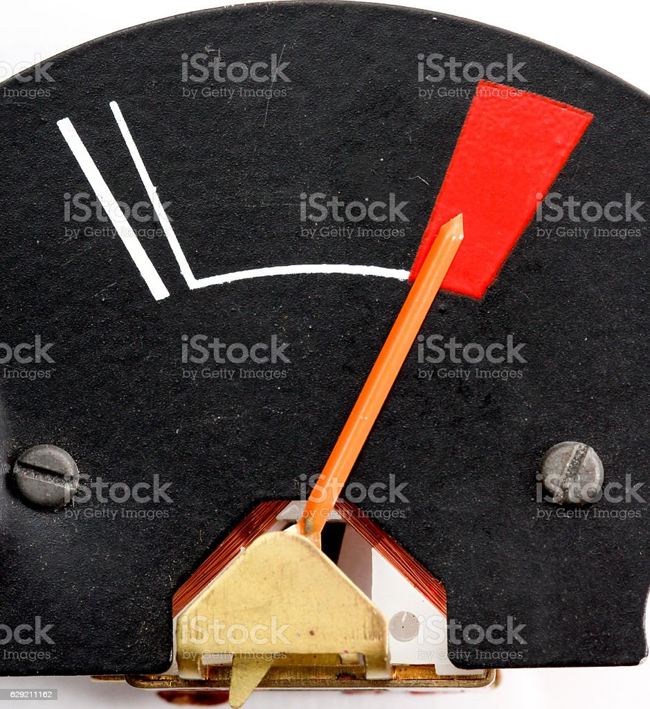 analog measuring device with the needle stock photo