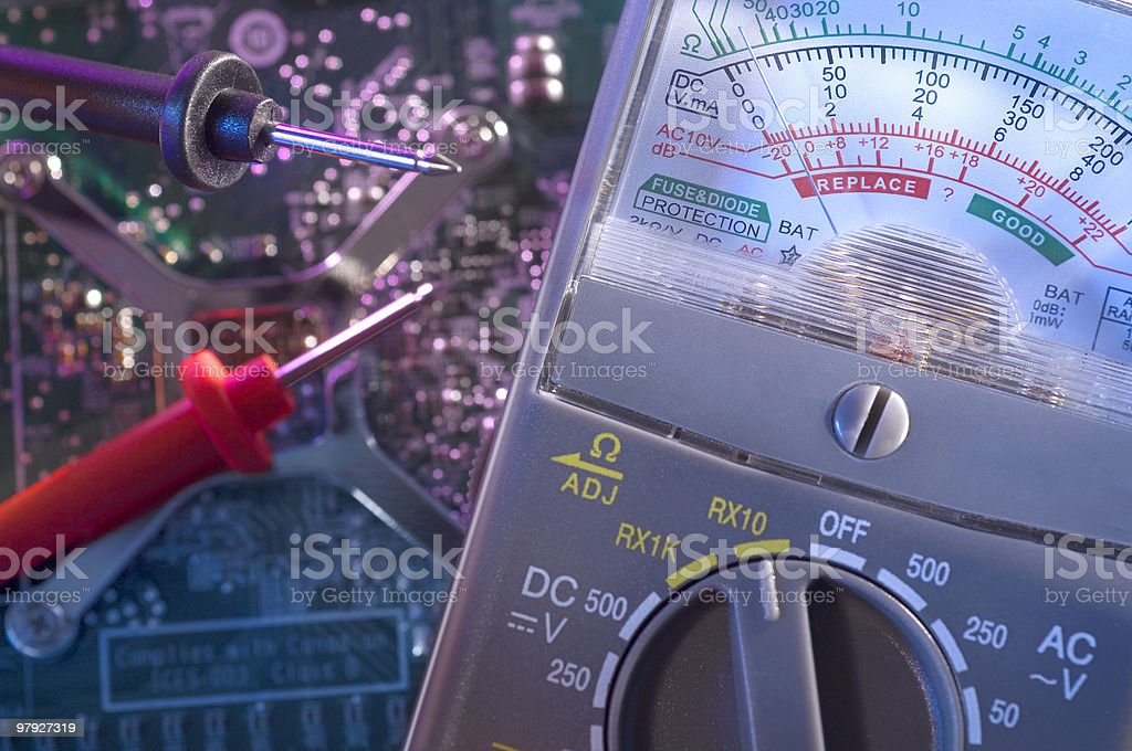 Analog Multimeter royalty-free stock photo