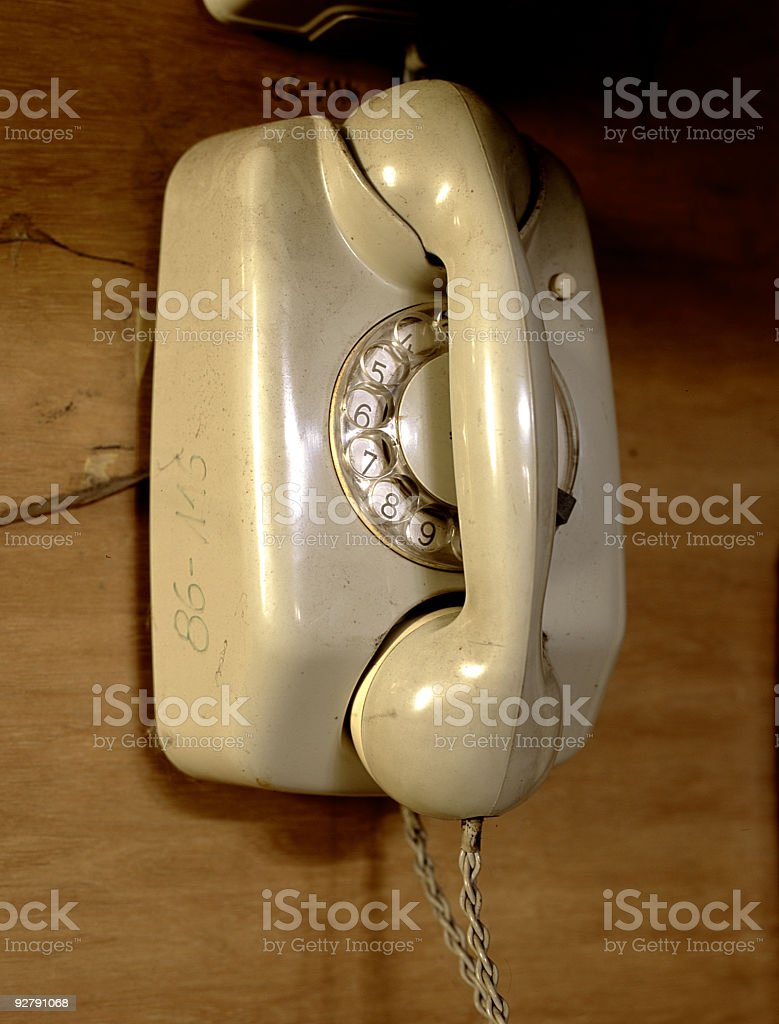 analog phone stock photo