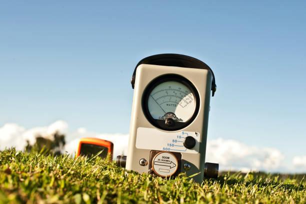 Analog Powermeter (Wattmeter) stock photo