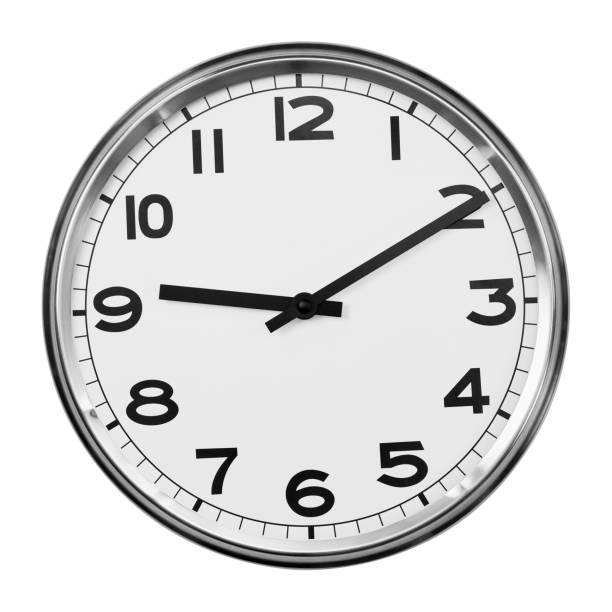 reloj de cuarzo analógico - wall clock fotografías e imágenes de stock