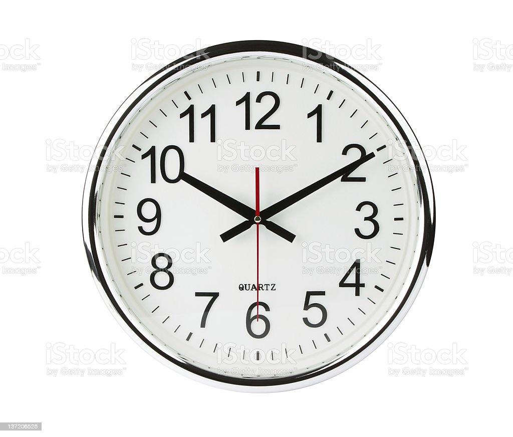 Analógico de cuarzo reloj con trazado de recorte - foto de stock