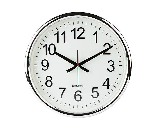 Analog quartz clock with clipping path Classic Clock isolated on white with clipping path clock hand stock pictures, royalty-free photos & images