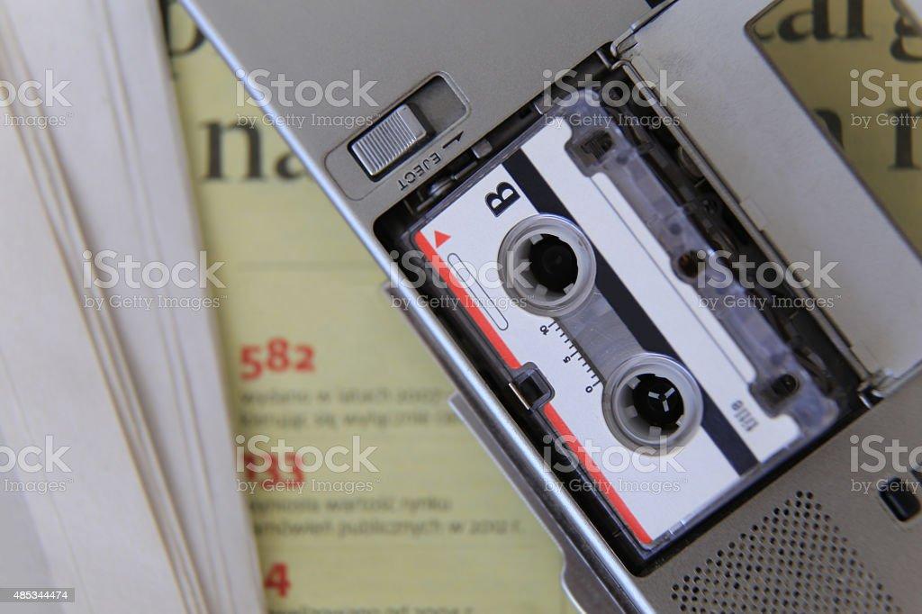 Analog recorder, journalism, news, stock photo