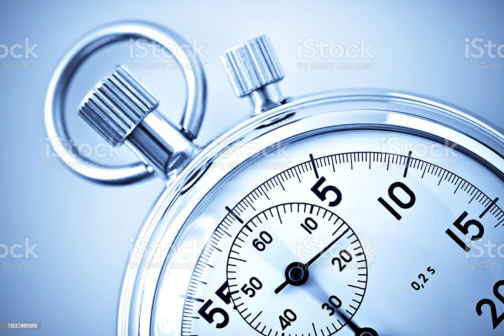 analog stopwatch closeup stock photo