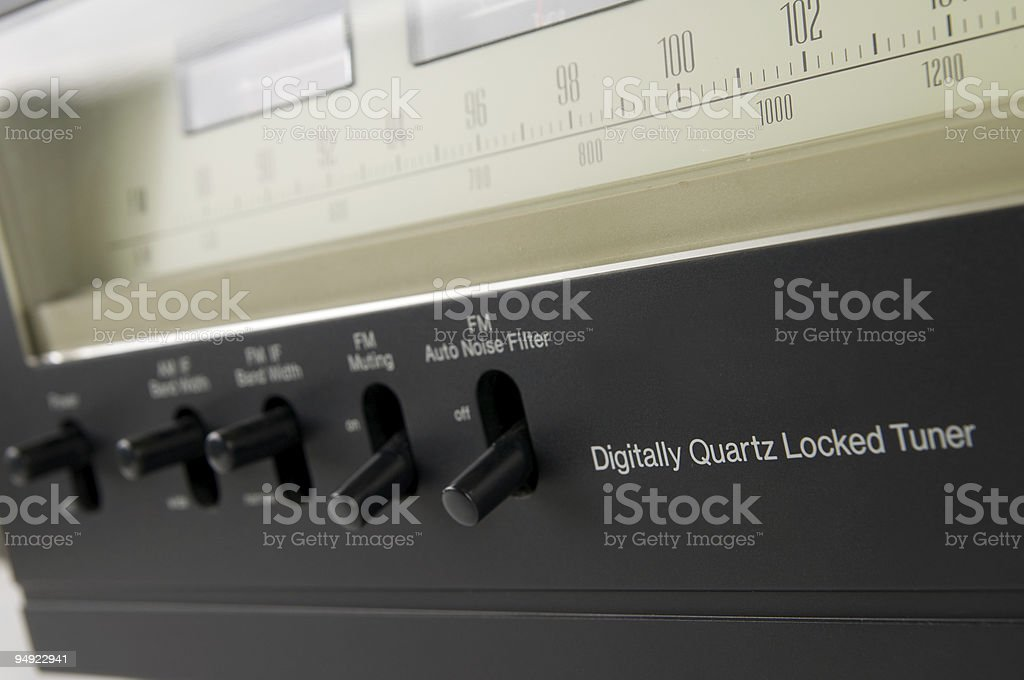 Analog tuner royalty-free stock photo
