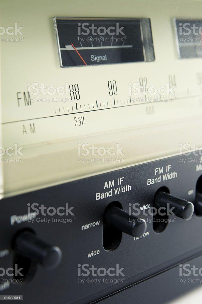 Analog tuner royalty-free stock photo