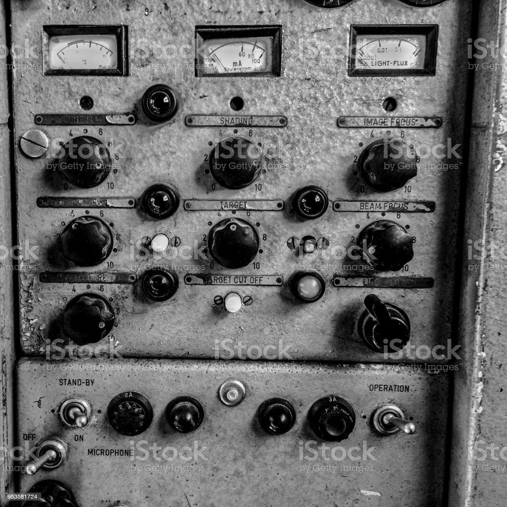 Analog TV control room