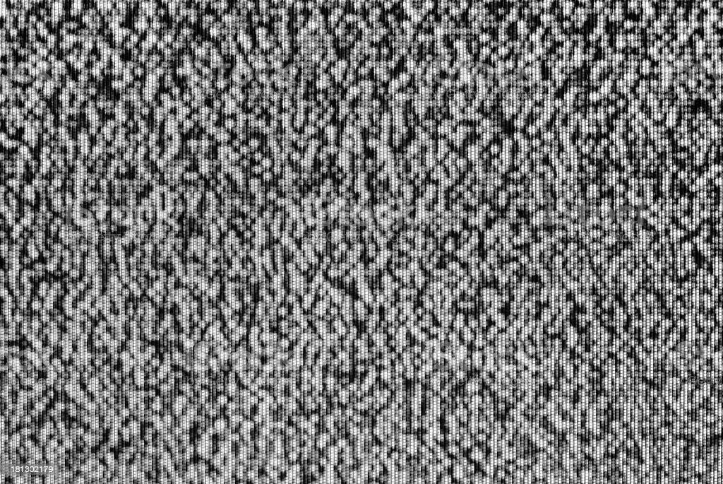 Analog TV CRT kinescope noise – black & white stock photo