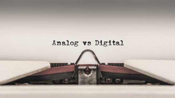Analog vs Digital stock photo