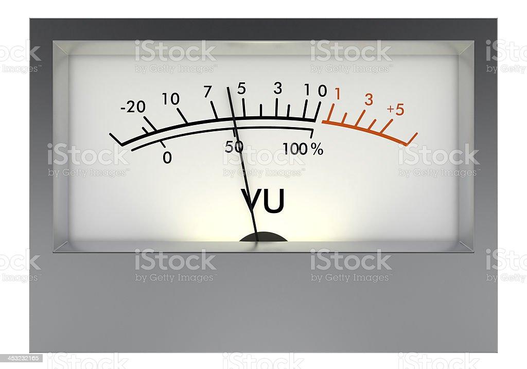 Analog VU meter stock photo