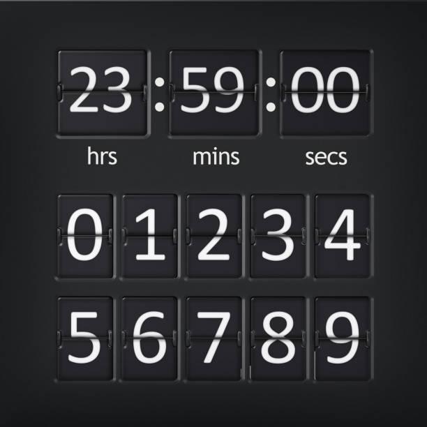 Analoge Flughafen-Countdown-Timer mit Zahlen – Foto