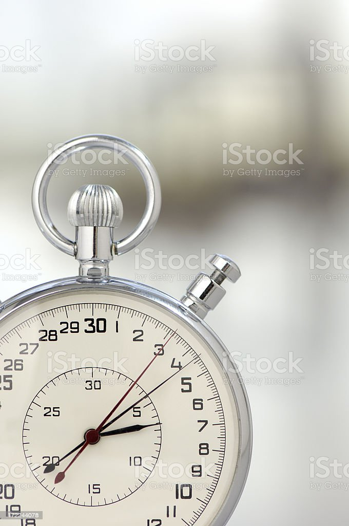 Analogue stop watch royalty-free stock photo