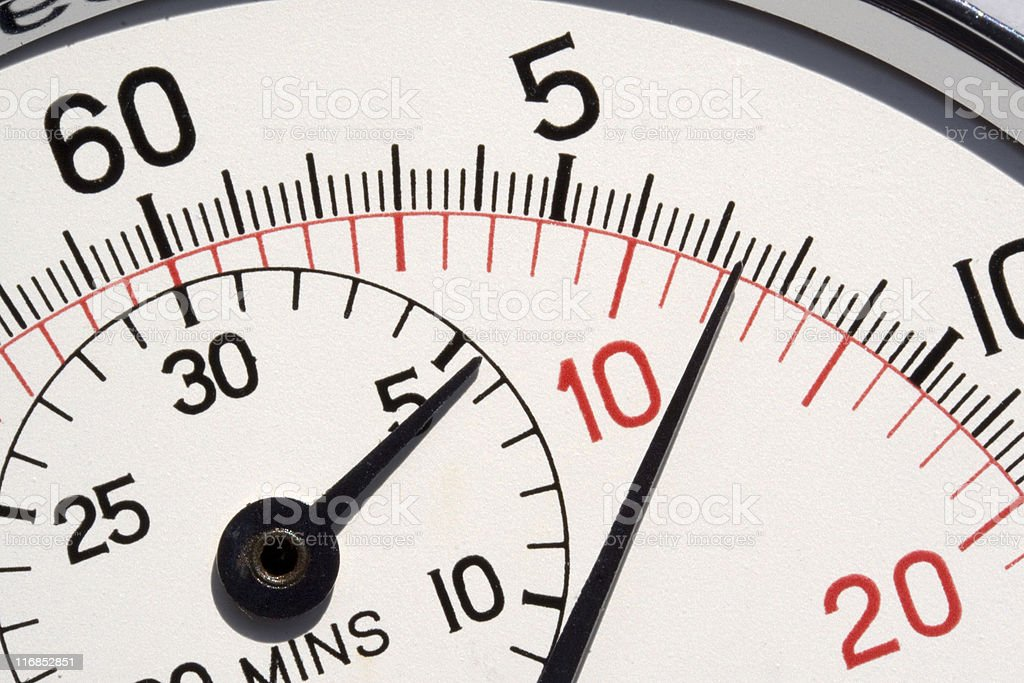 Analogue Stopwatch Close-up royalty-free stock photo