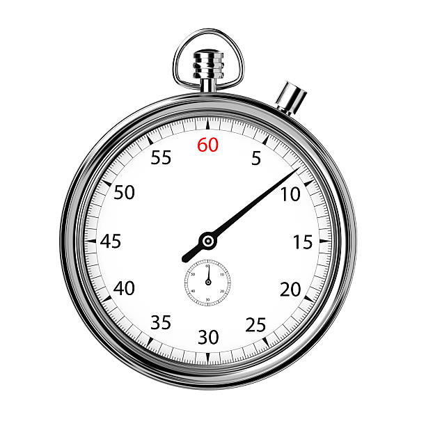 analogue stopwatch front - stop watch stock photos and pictures