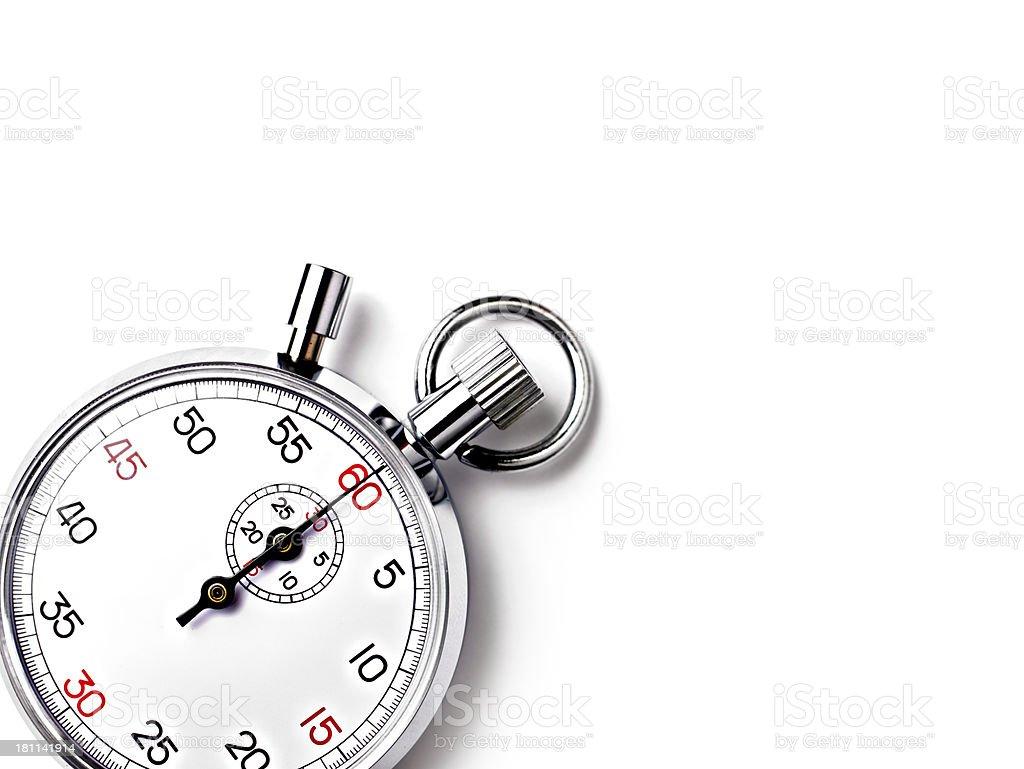 Analogue Stopwatch royalty-free stock photo