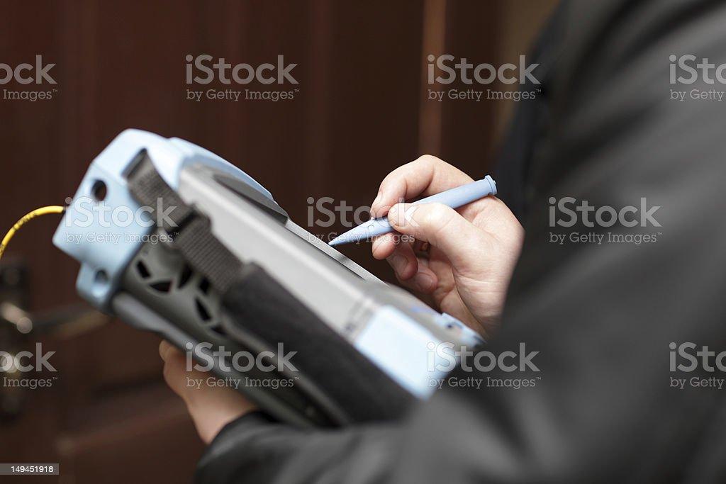 IT analyser stock photo