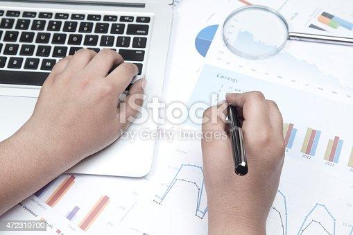 905049450 istock photo Analysing business reports 472310700