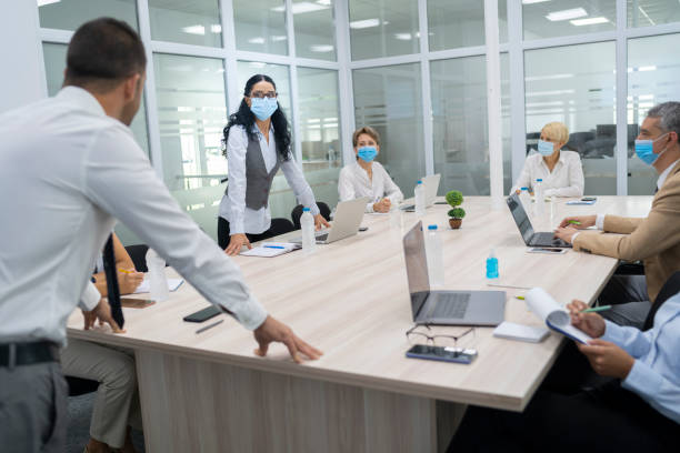 Analysing data in hard times of COVID-19 epidemic stock photo
