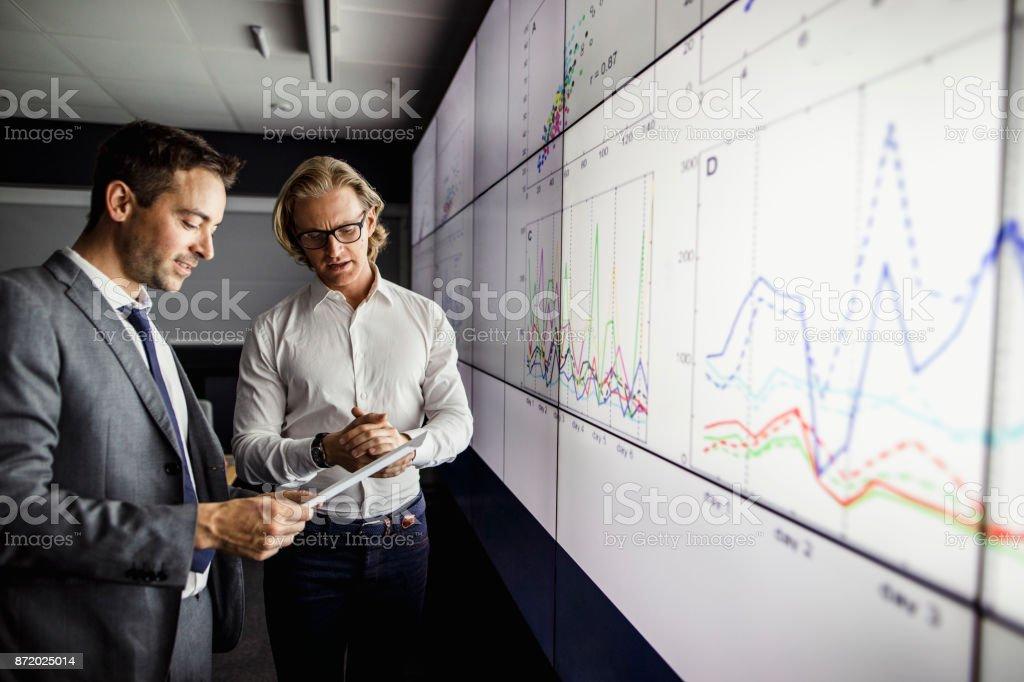 Analysing Data stock photo