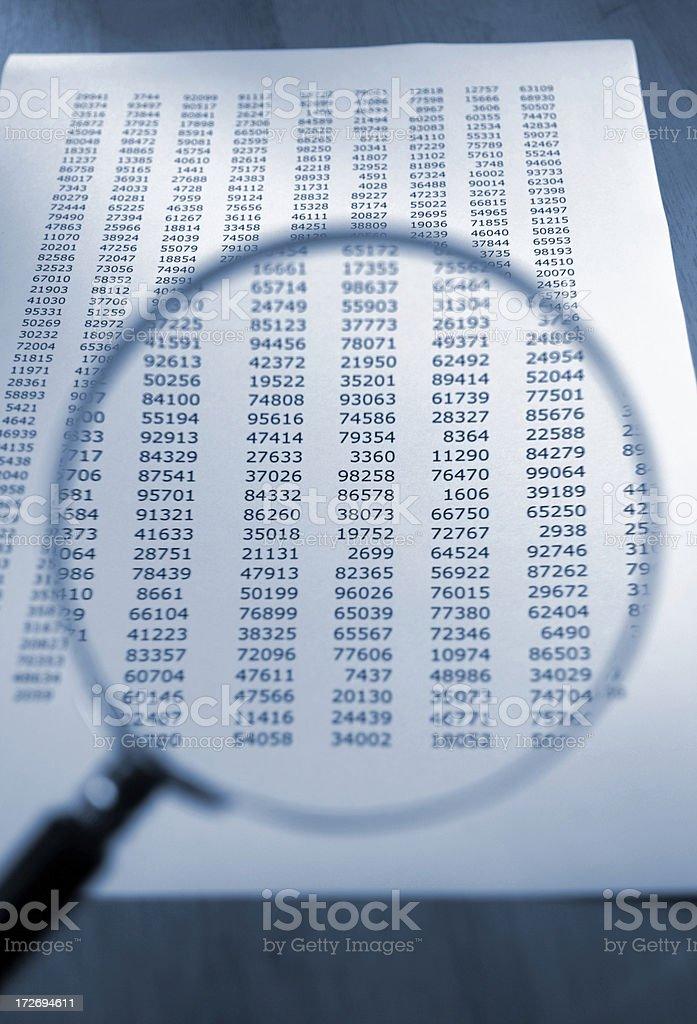 analysing figures royalty-free stock photo