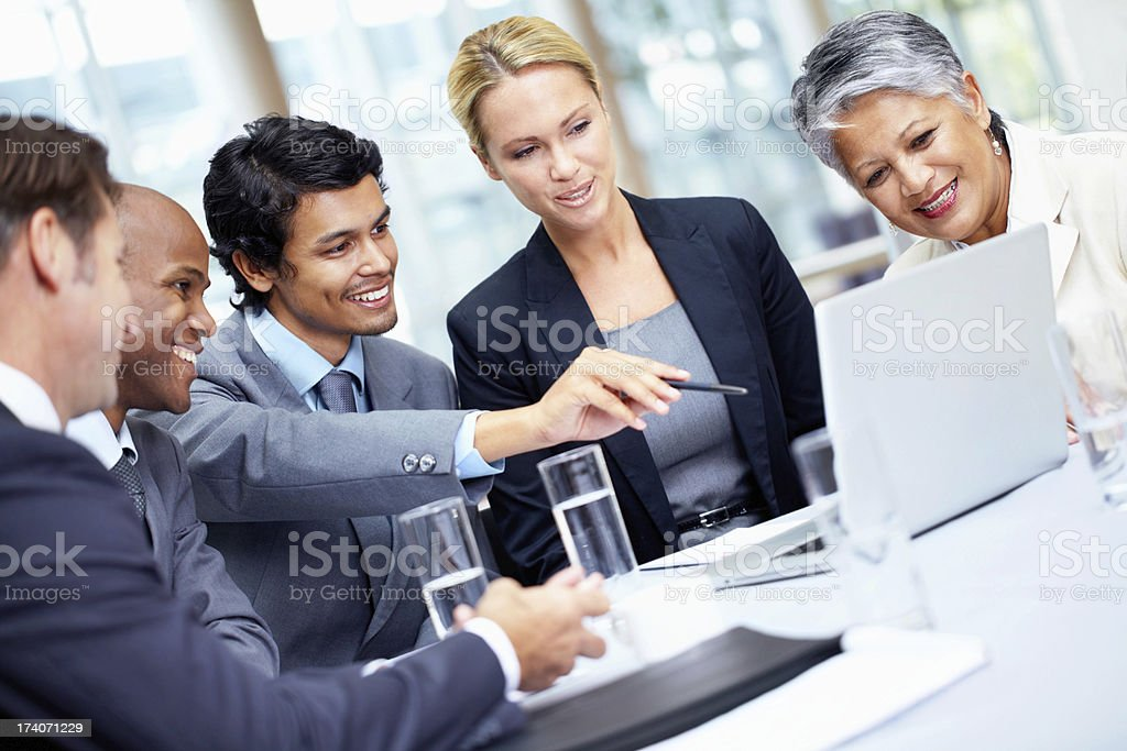 Analysing together royalty-free stock photo