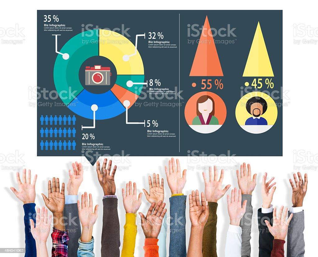 Analysis Analytic Marketing Sharing Graph Diagram Concept stock photo